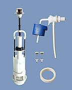 Сливная арматура для бачка боковое подключение 1/реж шток хром АБ 66 Уклад