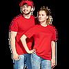 Однотонные футболки под нанесением логотипа