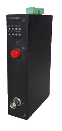 DS-3V01R-A/720 - 1 канальный 720р HD-TVI приемник цифрового видео по оптоволокну.