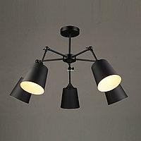 Люстра на 5 ламп черная матовая в стиле Modern