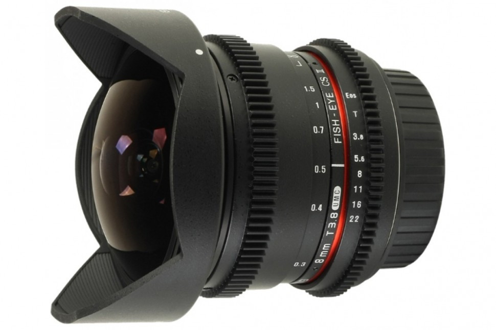Samyang 8mm T3.8 AS IF UMC Fish-eye CS II Vdslr Canon EF