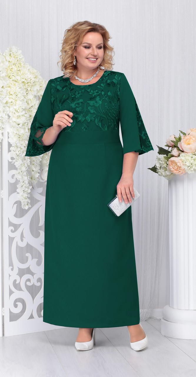 Платье Ninele-5691/2, изумруд, 52