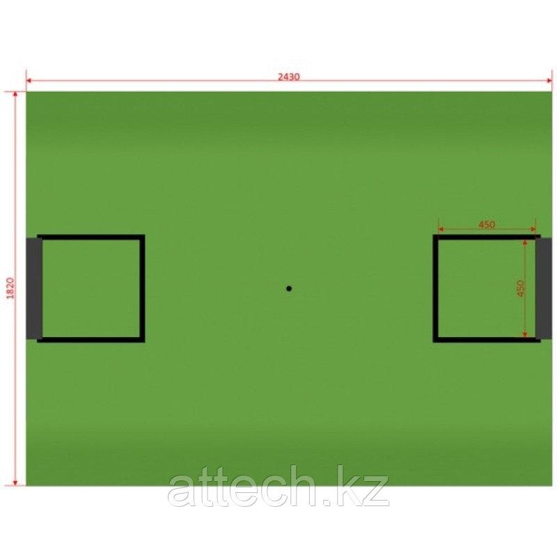Поле Футбол без наклонов (зеленое основание)