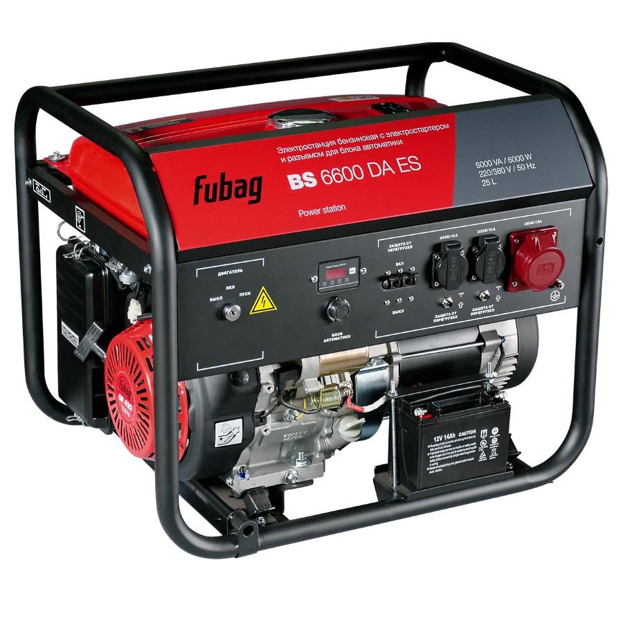Генератор бензиновый BS 6600 DA ES 6 кВт