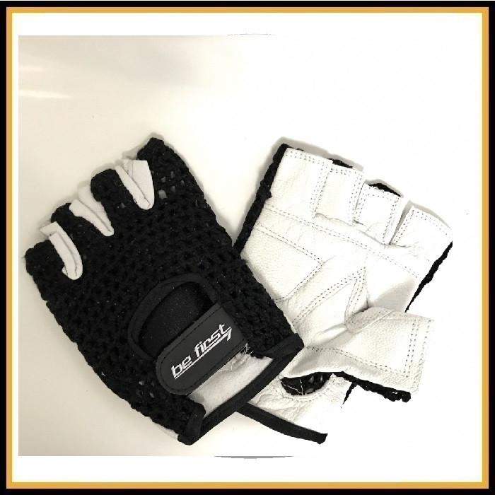 Перчатки Be First сеточные черно-белые (арт 705 XL)