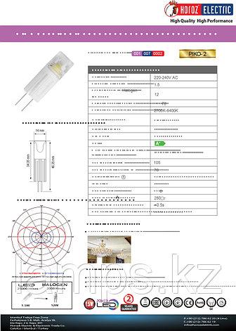 Светодиодная лампа LED PIKO-2 1.5W 6400K диммируемая, фото 2