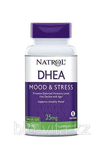 Natrol, ДГЭА, DHEA, 25 мг, 180 таблеток.