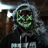 """Неоновая маска """"Судная ночь"""", зеленая., фото 1"""