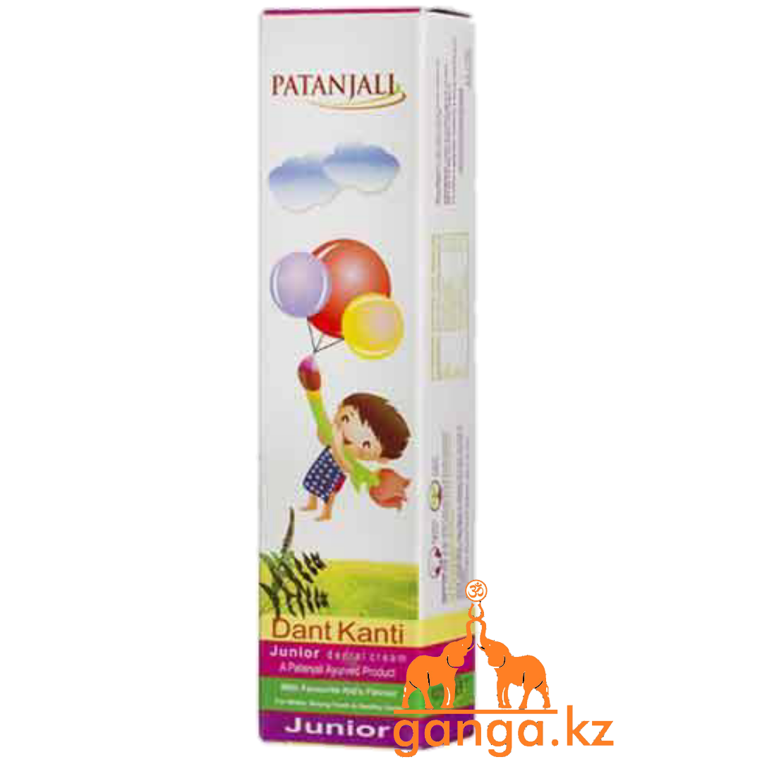 Натуральная Детская Зубная паста (Dant Kanti Junior Dental Cream PATANJALI), 100 г.