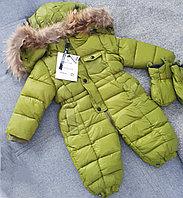 """Зимний комбинезон""""Moncler"""" для мальчиковот 3 до 24 месяцев, зеленый."""