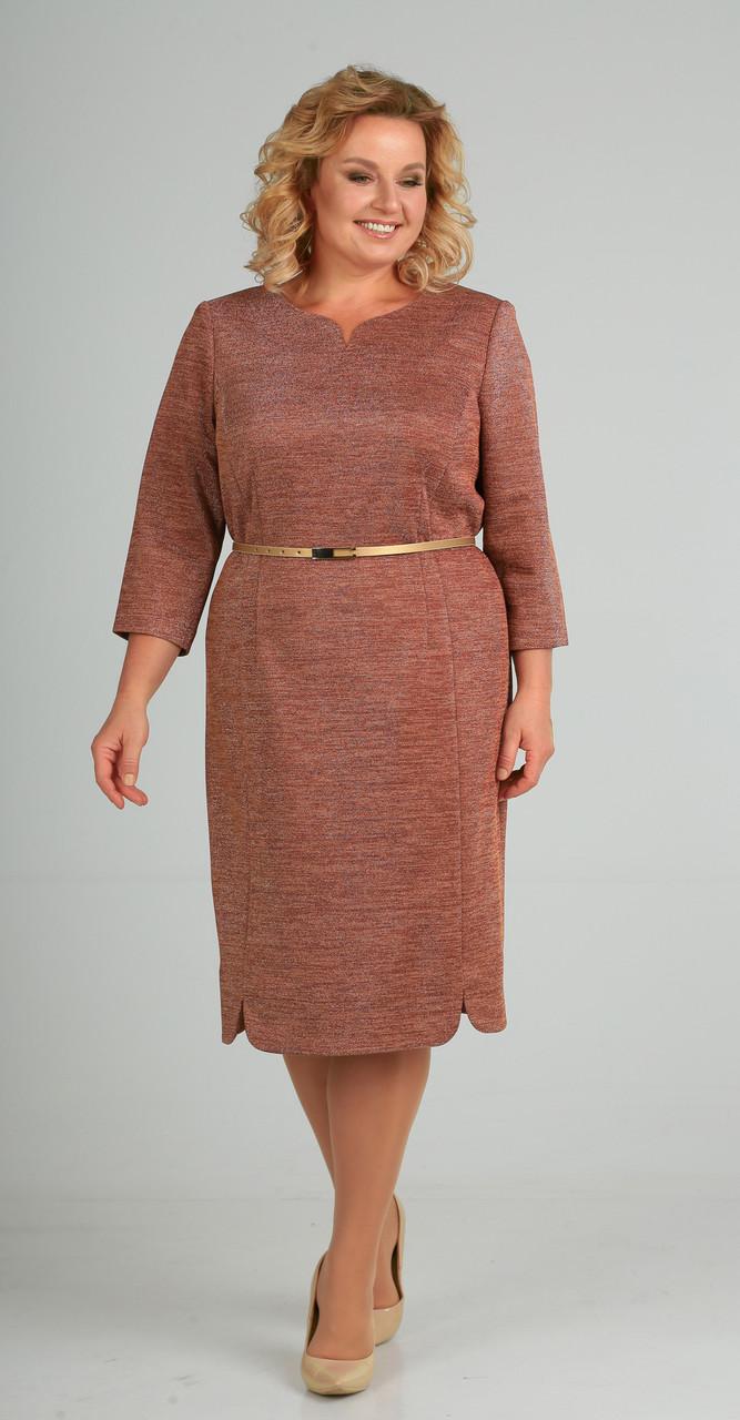 Платье Elga-628/2, терракот, 56