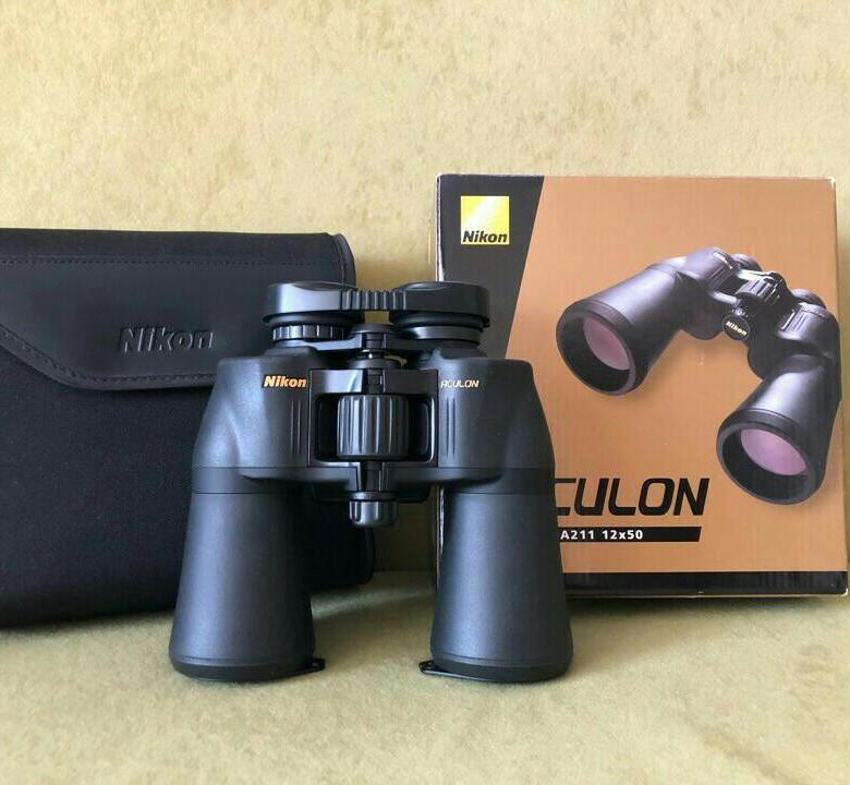 Бинокль Nikon Aculon A211 12x50, Black