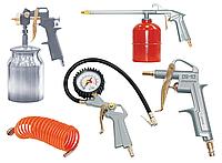 FUBAG Набор пневмоинструмента 5 предметов (краскораспылитель с нижним бачком)