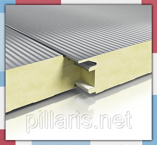 Стеновая сэндвич-панель 50 мм с пенополиизоцинуратом (PIR)