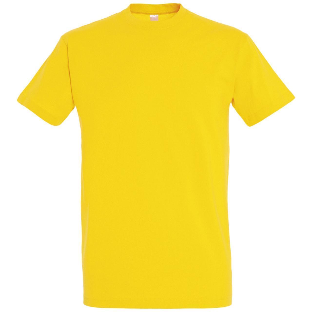 Oднотонная футболка   Желтая   160 гр.   M