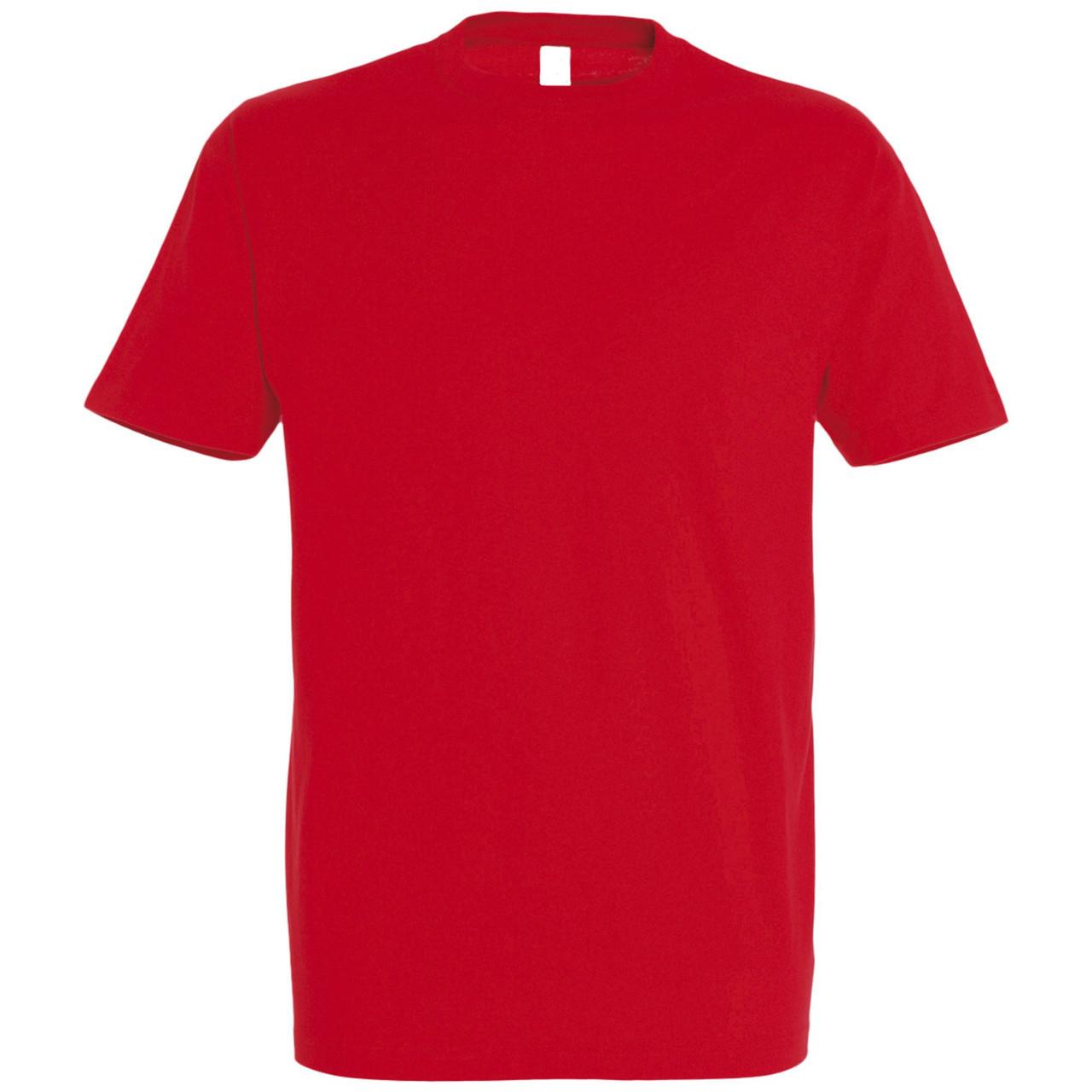 Oднотонная футболка   Красная   160 гр.   S