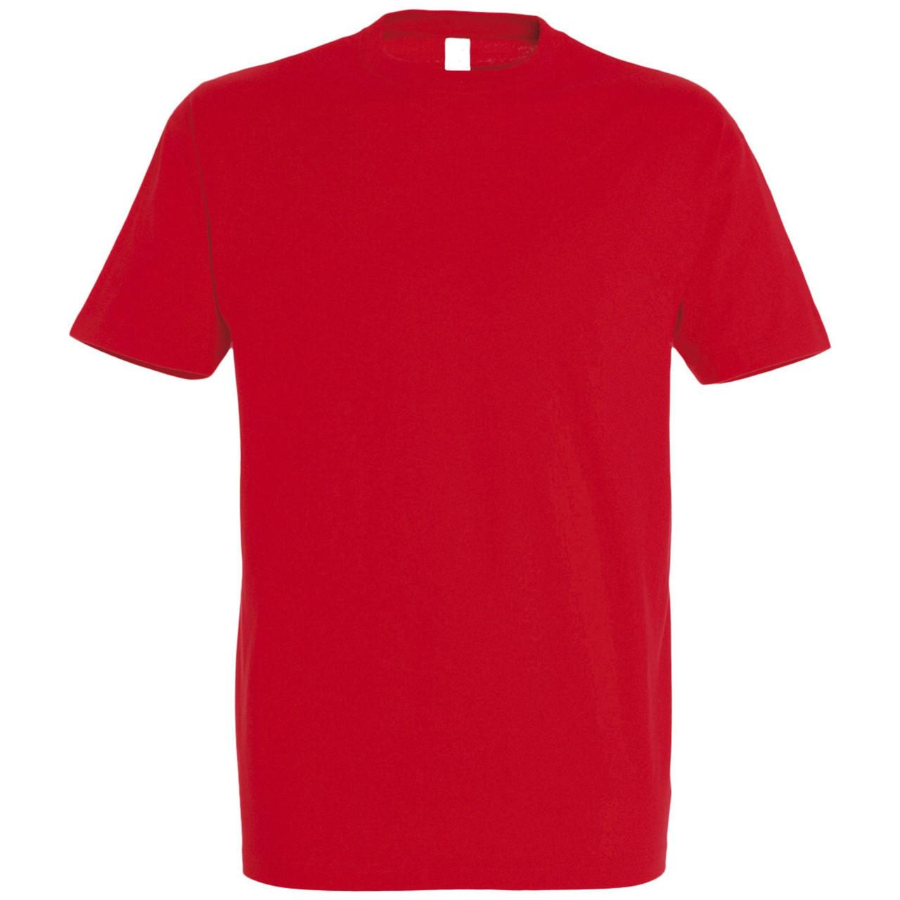 Oднотонная футболка   Красная   160 гр.   2XL