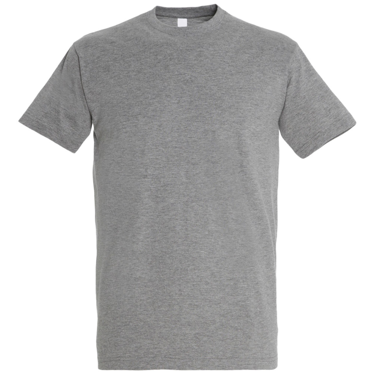 Oднотонная футболка   Серый меланж   160 гр.   M