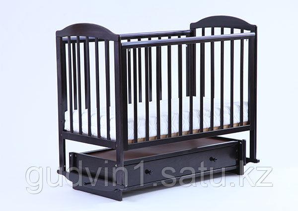 ЛЕЛЬ Кровать детская КУБАНОЧКА-5 с продольным маятником БИ 41.3 венге,ваниль
