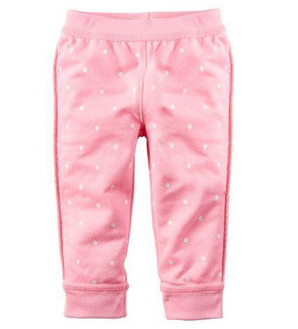 Штанишки весенние, цвет розовый, в горошек, Jumping Beans