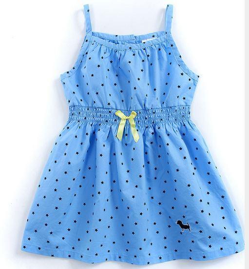 Летний сарафан, цвет голубой со звездочками, на 4 года