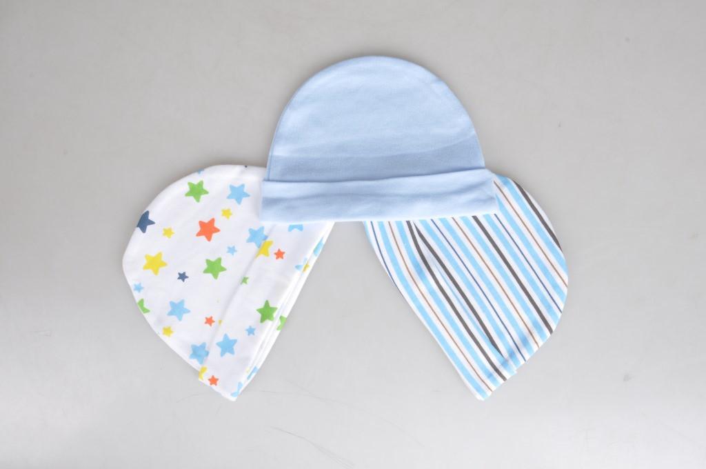 Шапочки для новорожденных, 3 шт., расцветка для мальчика