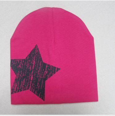 Шапочка трикотажная, со звездочкой, цвет розовый, на 1-3 года