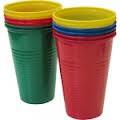 Стакан пластиковый цветной 0,2 л 1*100