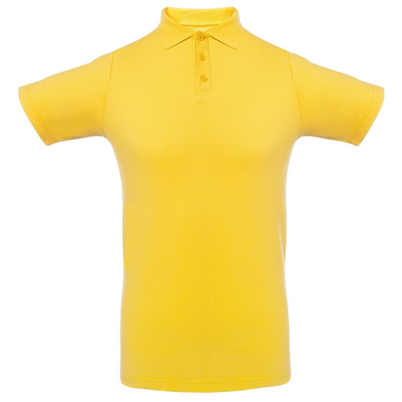 Футболка Поло Желтая.200 гр.2XL
