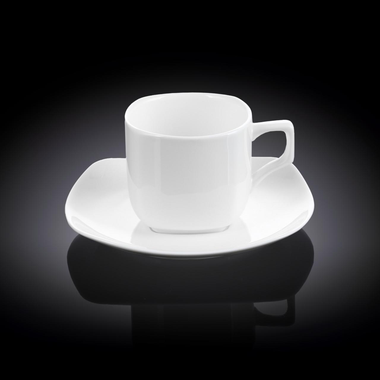 Набор чайная чашка и блюдце Wilmax 200 мл 6 пар (фирменная коробка)