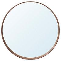 Зеркало СТОКГОЛЬМ диаметр 60 см шпон грецкого ореха ИКЕА, IKEA, фото 1