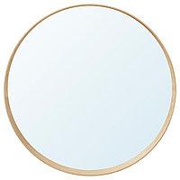 Зеркало СТОКГОЛЬМ диаметр 80 см ясеневый шпон ИКЕА, IKEA, фото 1