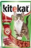 Kitekat Говядина в Желе Китекат Консервы для кошек, пауч 85г, фото 1