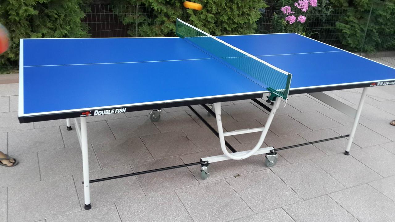 Всепогодный теннисный стол складной на колесах
