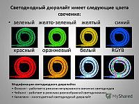 Светодиодный дюралайт, светодиодный дюралайт, круглый 2-х жильный  зеленый, белый, фото 2