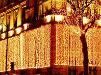 Гирлянды светодиодные, новогодние, уличные шторки, гирлянда занавес шторка; Длина: 2 - 6 метров, фото 3