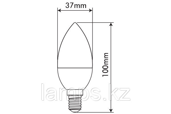 Светодиодная лампа BASIS/5.5W/SMD/E14/2700K/C37/CBOX, фото 2
