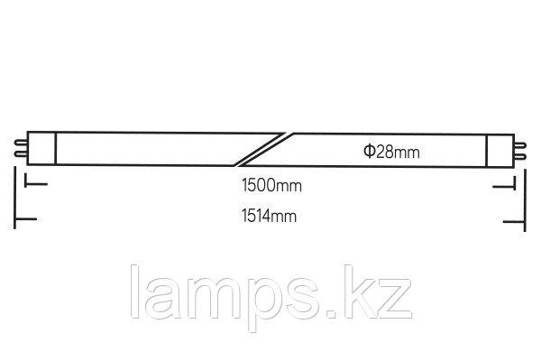 Светодиодная лампа трубка OPTILED/24W/G13/6500K/1500MM/T8 LED TUBE, фото 2