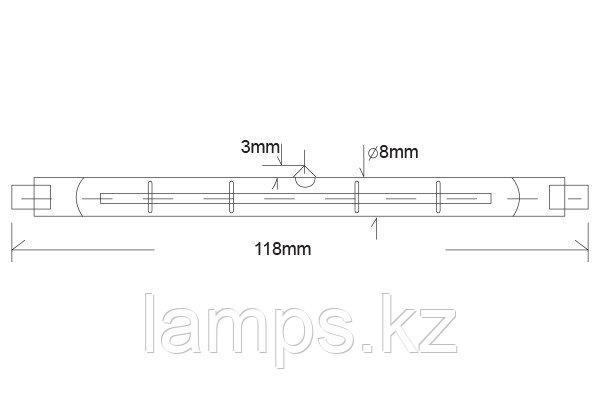 Лампа галогенная линейная Econur 118 мм/500W/R7S/220V