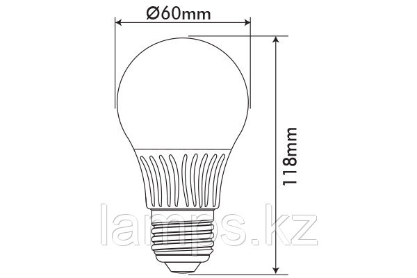 Светодиодная лампа GLOBUS-2/11W/SMD/E27/6400K/A60/DIM/CBOX