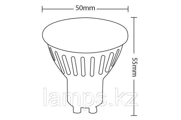 Светодиодная лампа VO/SPOTLED-2/6W/SMD/GU10/2700K/1LENS/DIM, фото 2