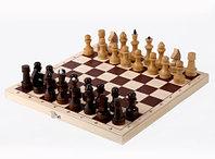 Шахматы обиходные лакированные с доской 290х145х38