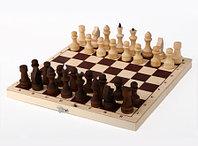 Шахматы обиходные парафинированные с доской 290х145х38, фото 1