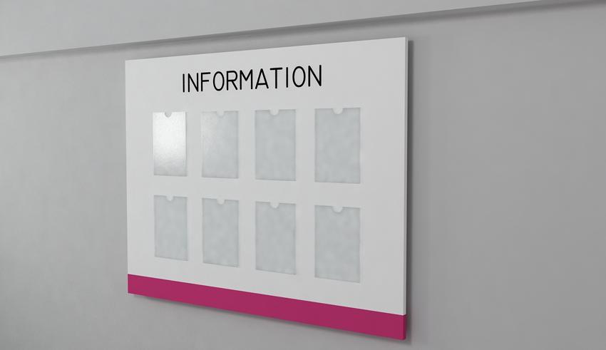 Настенный информационный стенд по индивидуальному заказу