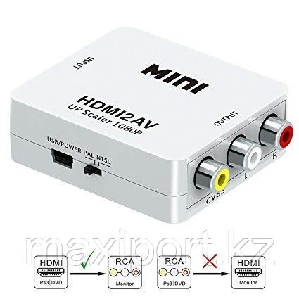 HDMI to AV Converter (HDMI in, RCA out) на тюльпаны, фото 2