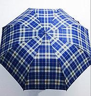 Зонт мужской складной MIRACLE клетчатый (полу-автомат), 122см., фото 1