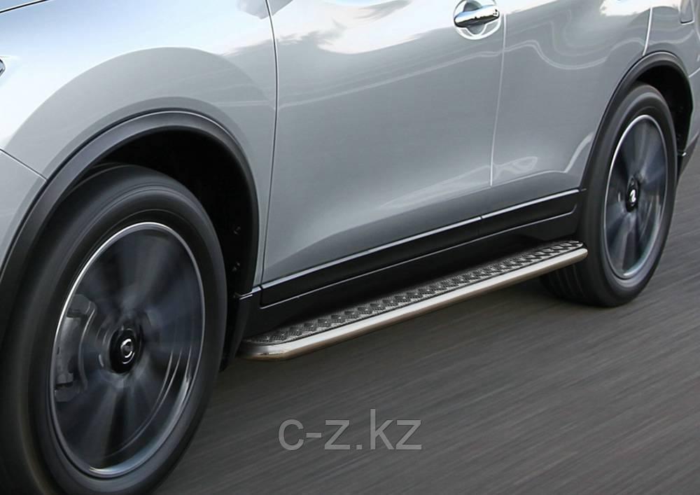Пороги с листом d57 RIVAL для Hyundai Tucson, 2015-н.в.