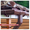 Труба водосточная Grand Line ПВХ Коричневый цвет 3,0 м D87 мм