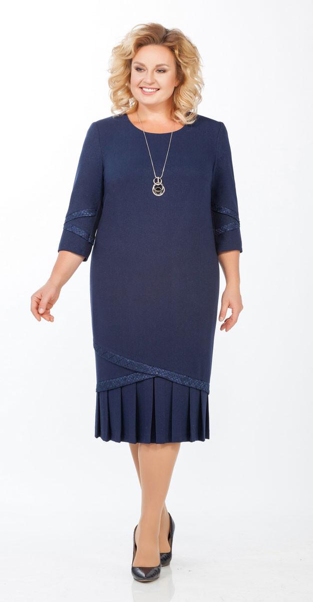 Платье Теллура-Л-1459, синий, 54
