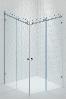 Раздвижная Угловая стеклянная душевая, Две двери. Стекло безопасное 8мм